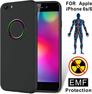 TAGCMC for iPhone 6S case, iPhone 6 case, Liquid Silicone Gel Rubber Shockproof Case Soft Microfiber Cloth Lining Cushion,EMF&Release Negativeion case Compatible with iPhone 6S and iPhone 6, Black