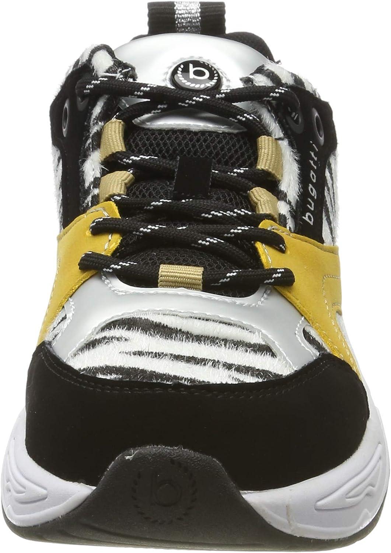 bugatti 432755015969 Damessneakers Zwart Black Animal Print 1082