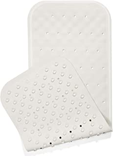 Yimobra Original Rubber Bath Tub and Shower Mat Long 37 X 14.2 Inches, Soft and Comfortable, Non-Slip with Suction Cups, Drain Holes, Phthalate Free, Machine Washable, Bathroom Mats, Lvory White