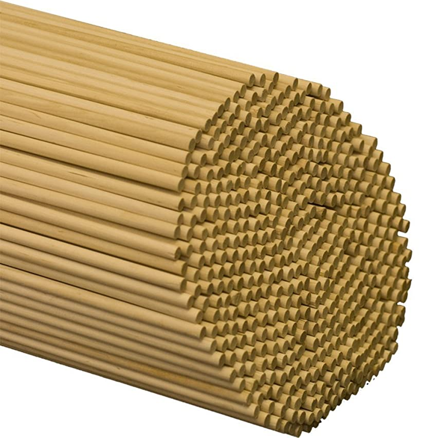 "Wooden Dowel Rods – 1/4"" x 18"" Unfinished Hardwood Sticks – for Crafts and DIY'ers – 50 Pieces – Woodpecker Crafts"