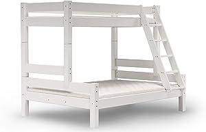 Alfred & Compagnie - Letto a castello, da 90/140 x 200 cm, colori: bianco