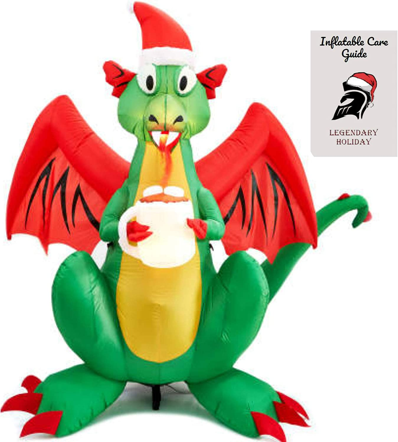 Christmas Fire Breathing Dragon Inflatable 6 ft Inflatable Care Guide