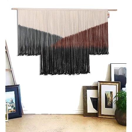Dip dyed fiber art Macrame Red ombre macrame Wall decor RED macrame tapestry Wall hanging 19\u201dx27\u201d 47X69cm