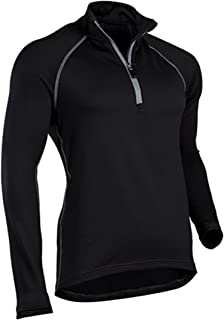 ColdPruf Men's Quest Performance Base Layer 1/4 Zip Mock Neck Top