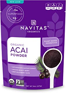 Navitas Organics Acai Powder, 8 oz Bag, 76 Servings — Organic, Non-GMO, Freeze-Dried, Gluten-Free