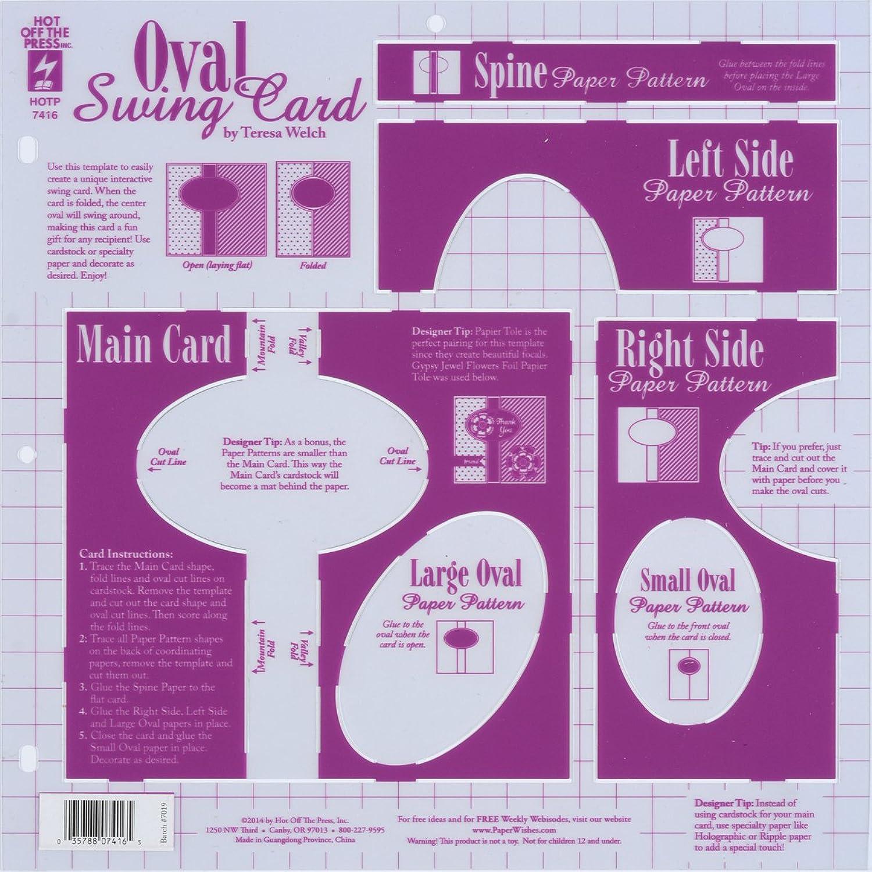 Unbekannt Hot Off The Press Press Press Kunststoff Template-oval Swing Karte B00MTZH60Q     | Hervorragende Eigenschaften  2e0fad