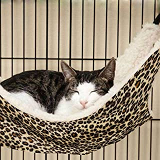 OCSOSO Cat Hammock Kitten Pet Cage Hammock Bed Hanging Soft Under Chair for Kitten Ferret Puppy or Small Pet