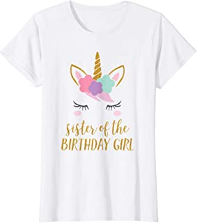 sister of the birthday girl shirt