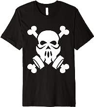Dubstep Gas Mask Skull with Crossbones friends Premium T-Shirt