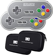 8Bitdo SF30 2.4G Wireless Controller Double-Pack Bundle with Bonus Carrying Cases - NES, SNES, SFC Classic Edition