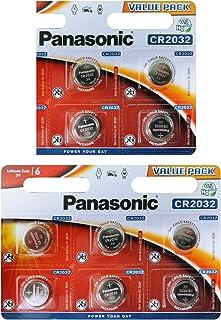 Panasonic CR2032 Knopfbatterie (10 er Pack, 3 V) Silber