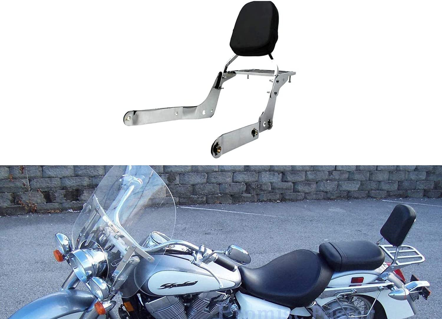 Promise Faster Super-cheap Beauty products New Leather Backrest Sissy Rack Com + Luggage Bar