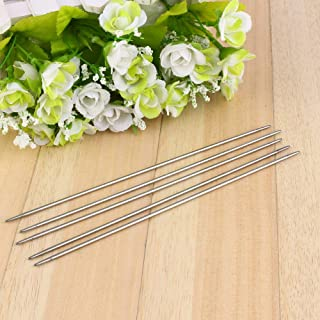 55 Pieces Knitting Needle Set, 2-6.5 mm Stainless Steel Double Pointed Knitting Knitting Kits Set of 11 Knitting Needles S...