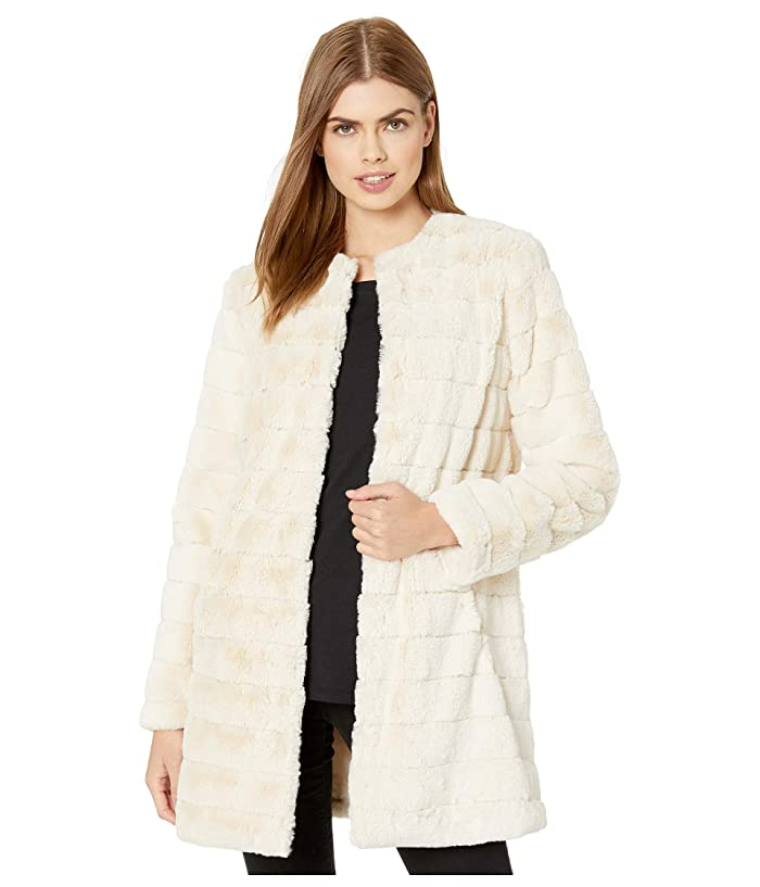 BB Dakota  Anything For You Grooved Faux Fur Coat (Ivory) Womens Coat