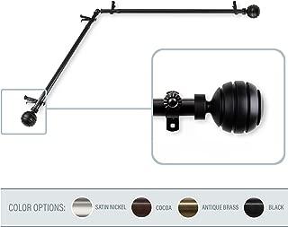 A&F Rod Decor - Dipper Corner Window Curtain Rod 28-48 inch (each side) - Black