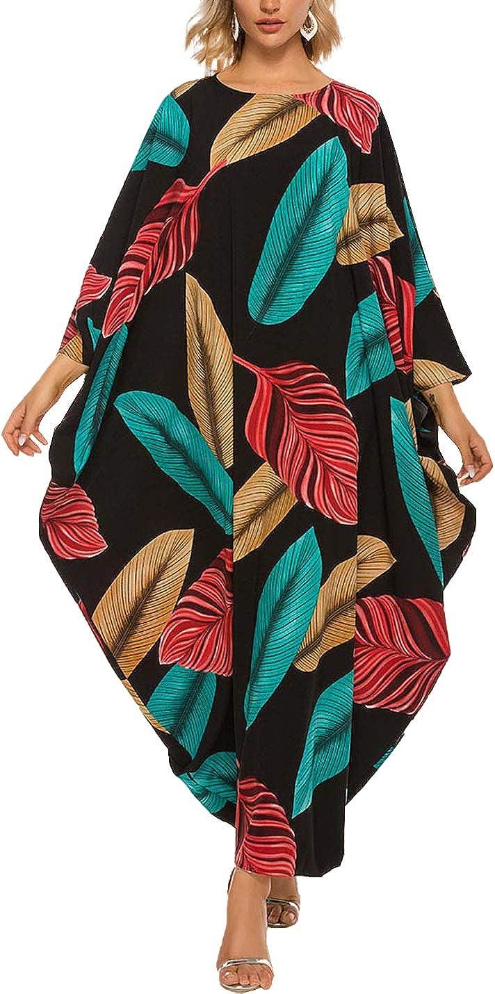 Max store 66% OFF Tohopu Women's Batwing Plaid Long Ca Maxi Oversized Sleeve Dress