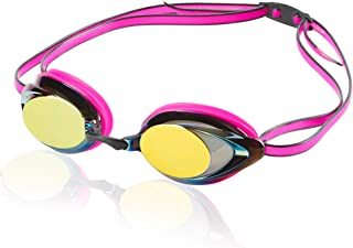 Speedo Women's Vanquisher 2.0 Mirrored Swim Goggles, Panoramic, Anti-Glare, Anti-Fog with UV Protection