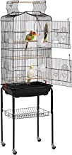 Yaheetech 64-inch Open Top Standing Medium Small Parrot Parakeet Bird Cage with Rolling Stand for Lovebirds Finches Canaries Parakeets Cockatiels Budgie Parrotlet Conures Pet Flight Bird Cage Birdcage