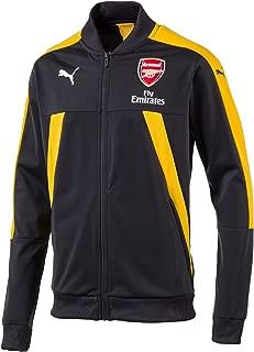 2016-2017 Arsenal Puma Stadium Jacket (Ebony-Yellow)