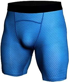 HOOLAZA Men Snake Print Compession Tights Sports Shorts Training Running Workout Pants