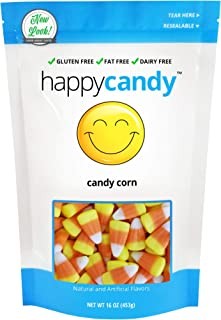 Happy Candy Candy Corn - Gluten Free, Fat Free, Dairy Free - Resealable Pouch (1 Pound)