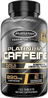 Caffeine Pills | MuscleTech 100% Caffeine Pre Workout Pills | Mental Focus + Energy Pills for Preworkout | Unflavored | 22...