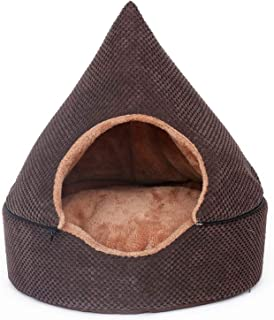 Pet Tent Cave Bed for Cats/small Dogs, Pet Bed Cat Igloo Bed, Detachable Ceiling, Reduce Bacterial Growth - for Small Pets...