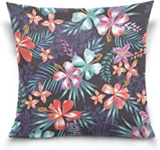 "MASSIKOA Colored Floral Decorative Throw Pillow Case Square Cushion Cover 20"" x 20"" for Couch, Bed, Sofa or Patio - Only C..."
