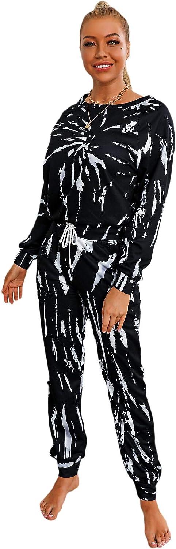 Floerns Women's shop Long Sleeve Crop and Top Sweatshirt Joggers Trac Inexpensive