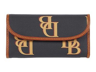 Dooney & Bourke Monogram Continental Clutch (Charcoal) Clutch Handbags