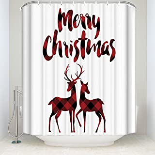 Best christmas plaid shower curtain Reviews