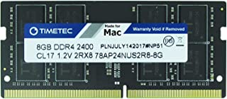 Timetec Hynix IC compatible with Apple DDR4 2400MHz PC4-19200 SODIMM Memory Upgrade For selected iMac (8GB(Single Rank))