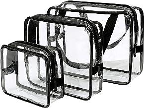 Archile Archile Toilettas 3 in 1 Gift Makeup Tassen Cases Plastic Zak Clear PVC Archile Bag Borstels Organizer voor Mannen...