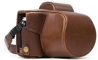 MegaGear 奥林巴斯 OM-D E-M10 Mark II,E-M10 (14-42mm) 随时可用皮革相机包和皮带