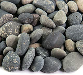 Southwest Boulder & Stone Landscape Rock and Pebble | 2000 Pounds | Natural, Decorative Stones and Gravel for Landscaping, Gardening, Potted Plants, and More (Mixed Mexican Beach Pebble, 3/8 Inch)