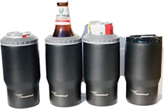 KoozieMate Quattro- 4 in 1 Stainless Steel Double Insulated Can Cooler, Pint Glass, Beer Bottle Cooler, Skinny Can Holder, Coffee Tumbler,Drink Tumbler,Beer Can -Bottle Insulators, Cooler Coolies