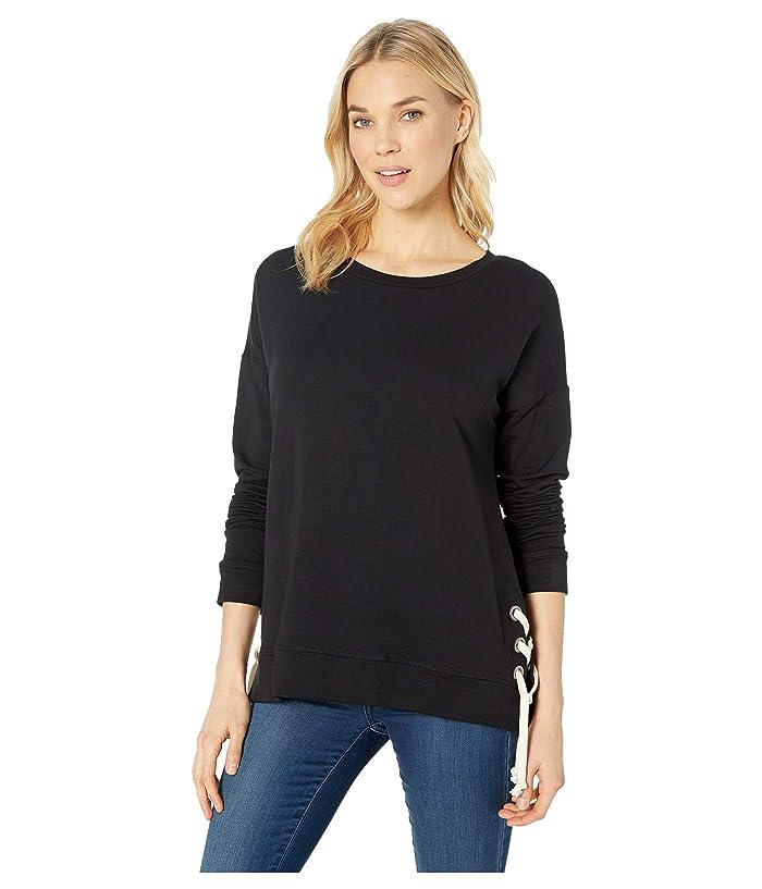 Karen Kane Side Tie Sweater (Black) Women's Sweater