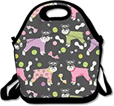 Schnauzers in Jammies Lunch Bag Lunch Tote Lunch Pouch Handbag Made for Women, Men and Kids