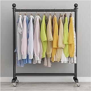 MissZZ Porte-vêtements Porte-vêtements à roulettes en métal Moderne Nordique avec Roue, Porte-vêtements d'affichage au dét...
