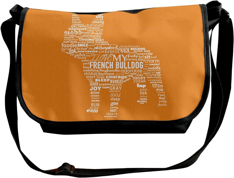 Single Shoulder Pack Green Bull Dog Shopping Shoulder Bag for Women