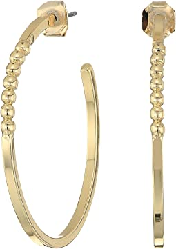 French Connection - Large Ball C Hoop Earrings