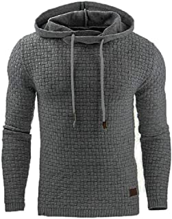 Mogogo Mens Hoodie Sport Casual Long Sleeve Drawstring Sweatshirt Blouse