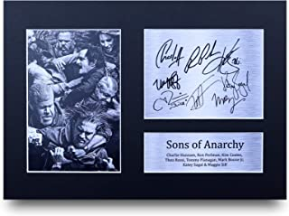 HWC Trading Sons of Anarchy A4 Sin Marco Regalo De Visualización De Fotos De Impresión De Imagen Impresa Autógrafo Firmado por Ventiladores De Programa De TV