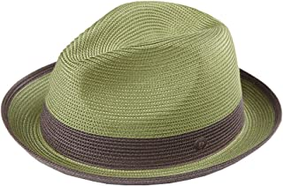 Dasmarca Mens Summer Crushable   Packable Straw Fedora Hat 7aaddca7d1d