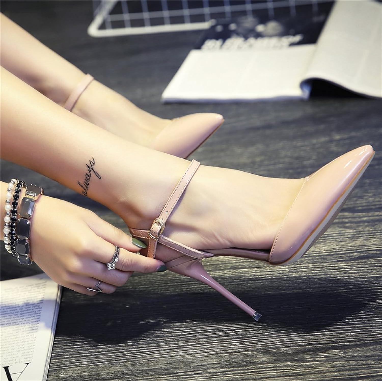 RBB Stiletto High Heel Schnalle Schuhe Damen Sommer Spikes Sandalen,Rosa,35  | Lass unsere Waren in die Welt gehen  | Zuverlässige Leistung  | Ausgezeichnet