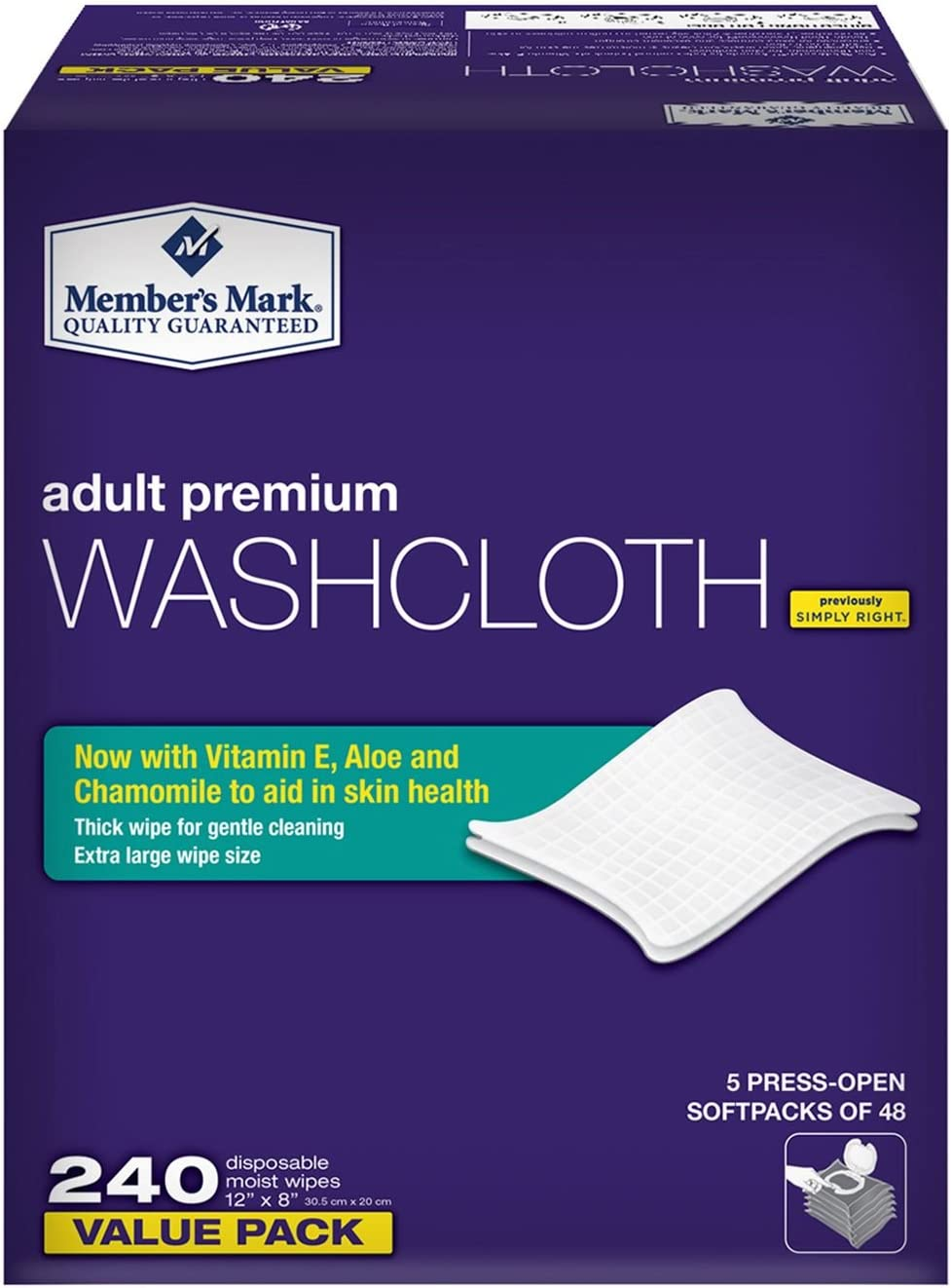 Lowest price challenge Member's Mark Super sale period limited Adult Washcloths 240 pack 6 of ct.