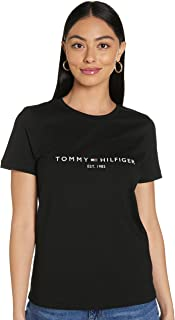 Tommy Hilfiger womens TH ESS HILFIGER C-NK REG TEE SS Baby and Toddler Tank Top