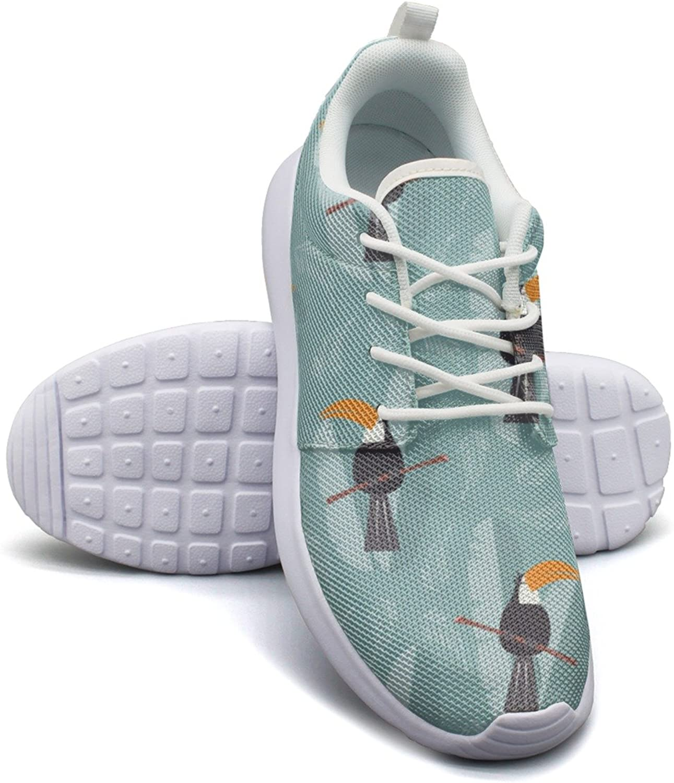 Rainforest Tropical Birds Toucan Women's Lightweight Mesh Tennis Sneakers Jogger Gym shoes