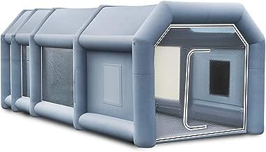 Husuper Cabina de Pintura Inflable 12 x 5 x 4 M Carpa Hinchable para Coche Tienda Inflable Cabina de Estacionamiento de Pintura Tienda Inflable de Campaña Cabina Inflable para Pintar el Coche