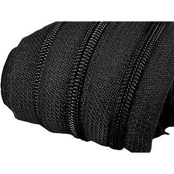 1 m col.02 1 EUR//M Endlos-Reißverschluss 5mm creme 3 Zipper